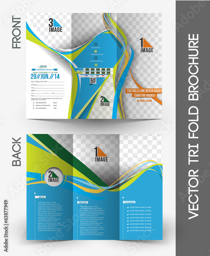 Tennis Competition Tri-Fold Brochure Mock up Design