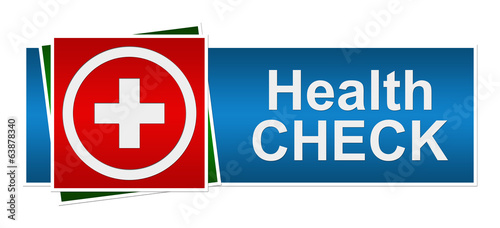 Health Check Red Blue Green Banner