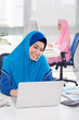 Young Muslim business lady