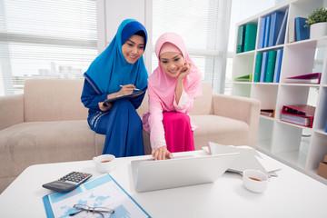 Two Muslim business ladies