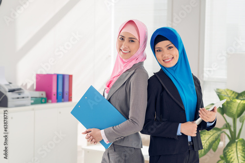 Businesswomen with documents
