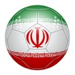 Soccer ball at the colors of Iran