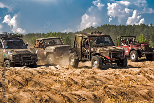 Jeep off-road racing