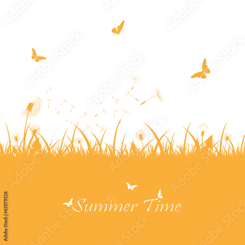 Orange summer background