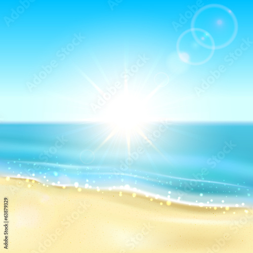 Beach and sparkling ocean