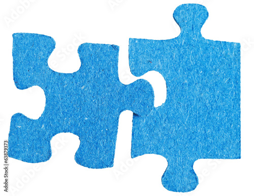 connecting of two sepatated jigsaw puzzle pieces