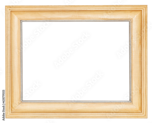 simple wide wooden picture frame