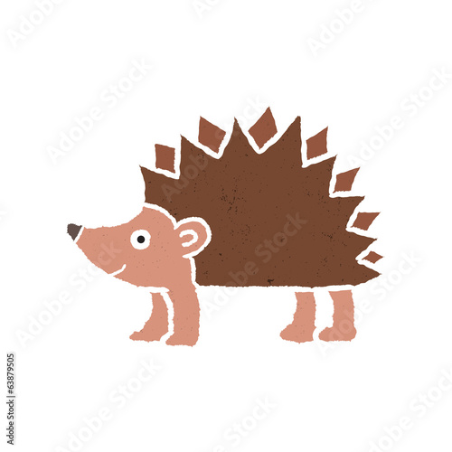 Porcupine cartoon - Vector