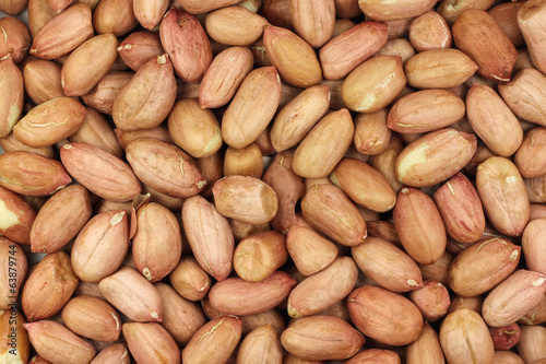 Peanut kernel white abstract background