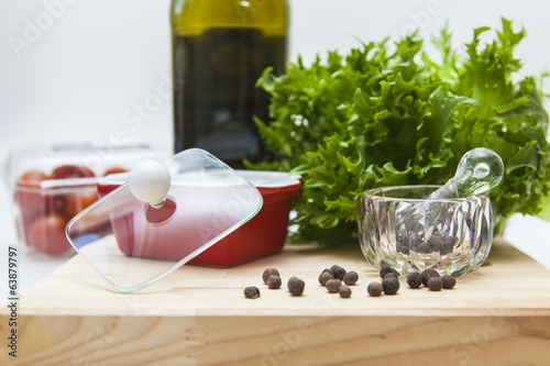 Products for cooking filling salad