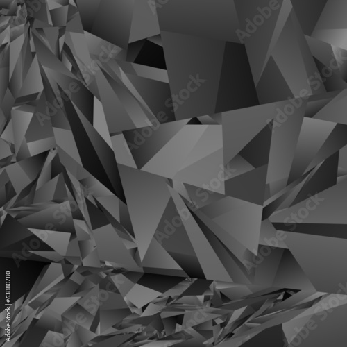 Black abstract chaotic rectangle pattern background