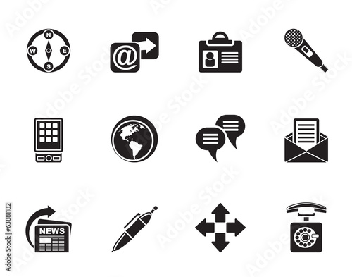 Silhouette Business, office and internet icons