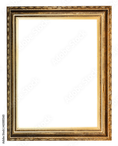 golden decorated ancient picture frame
