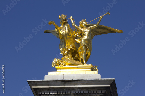 Pont Alexandre 3 Paris Alexandre III bridge France