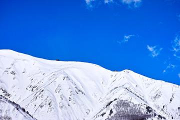雪の八方尾根