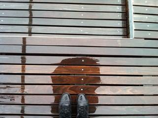 Rain on my boots