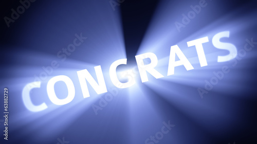 Illuminated CONGRATS