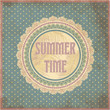 Summer time card in vintage style, vector