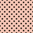 Vector black polka dots pink background or tile pattern