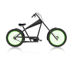 Modern realistic bike black vector