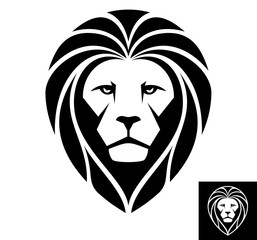 A Lion head logo. Inversion version included.