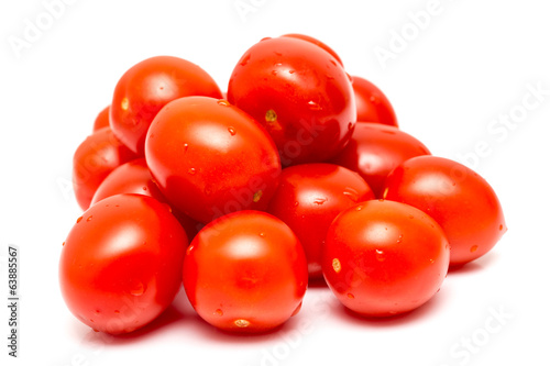 Healthy Tomato Pile Isolated On White
