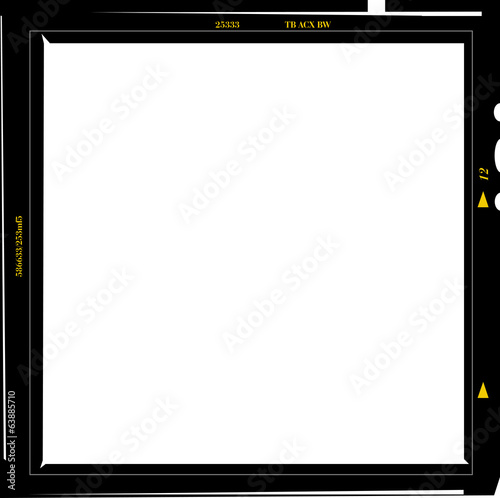 medium format negative photo frame, free copy space, isolated, v