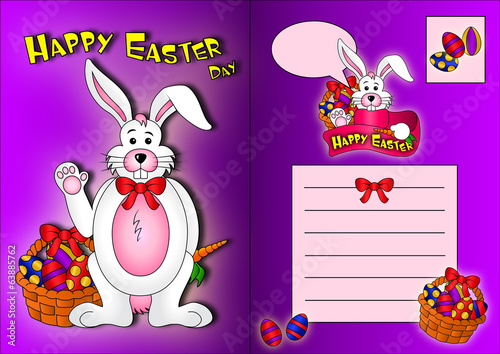 Easter Rabbit Postcard