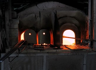 furnace lit with powerful flame