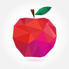 Geometric apple in style origami