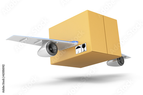 Flying cardboard box