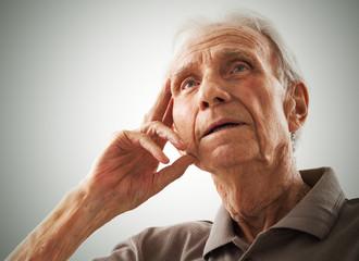 Portrait of elderly senior men