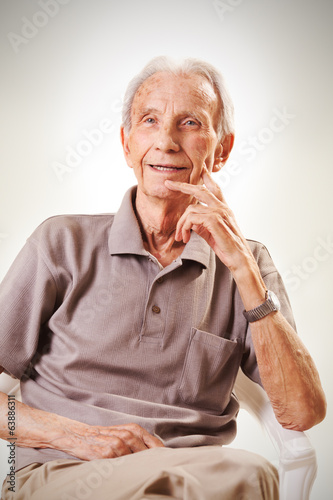 Portrait of elderly senior men