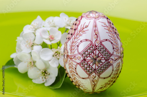 Spring flowers and Easter egg