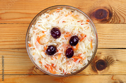 Cabbage salad with carrot and cranberries