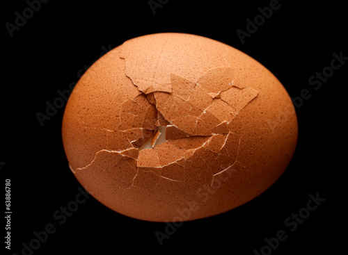 Egg with crack