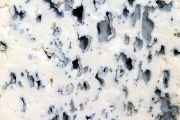 Blue cheese background texture closeup