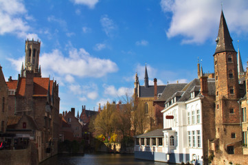 Typical view of Brugge, Belgium