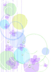 6月の紫陽花背景
