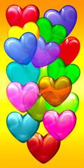 Bunte Herzen, Luftballons
