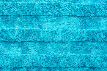 Blue Cotton Bath Towel Texture Closeup