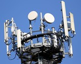 antennas for signal repetition of mobile telephony and televisio poster