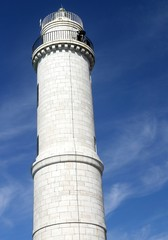 white lighthouse on the island of Murano