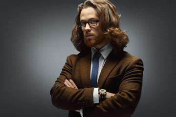 Business and stylish man.