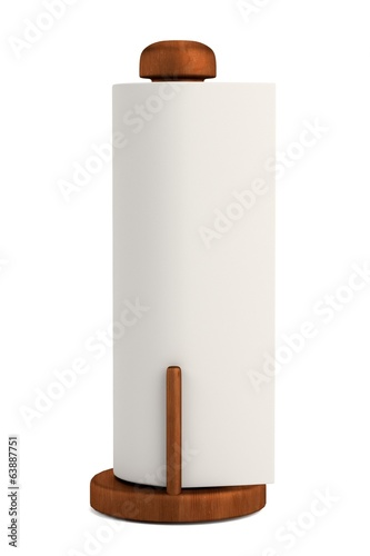 realistic 3d render of paper holder