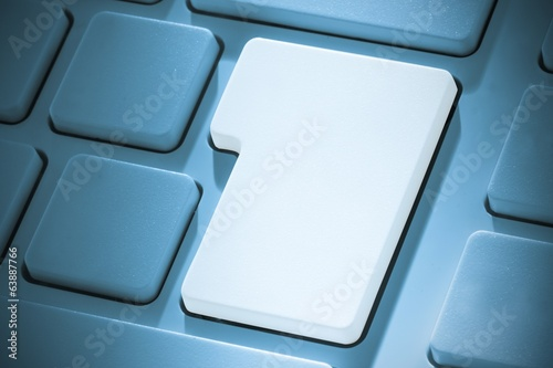 White enter key on keyboard
