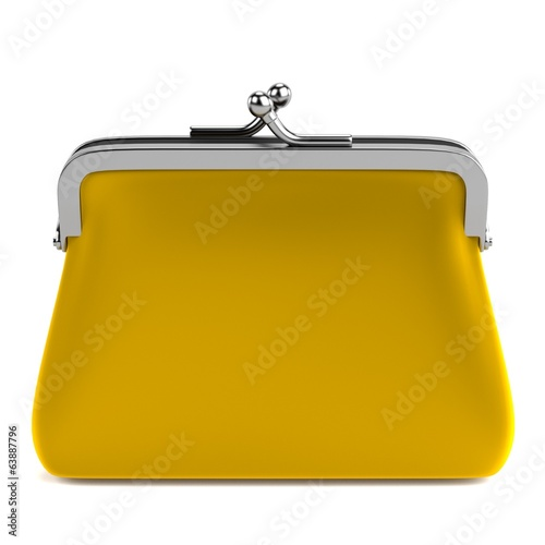realistic 3d render of purse