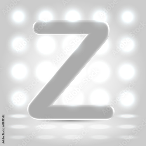 Z over lighted background