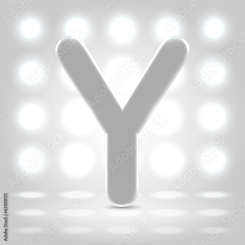 Y over lighted background