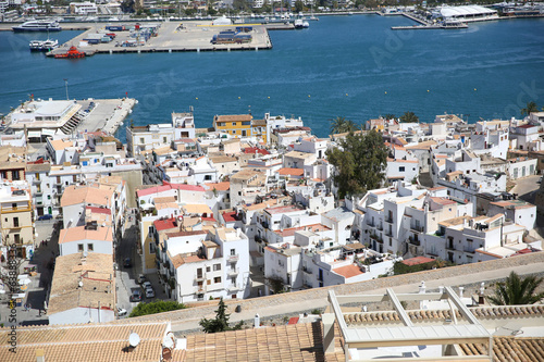 View of old quarter of Ibiza from the top of Dalt Vila